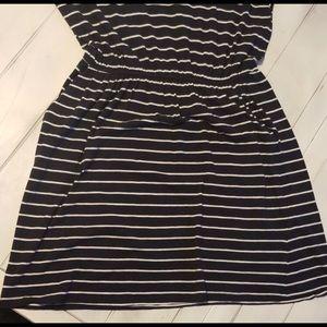 H&M Dresses - Adorable Deep Dark Blue & White Striped Dress!